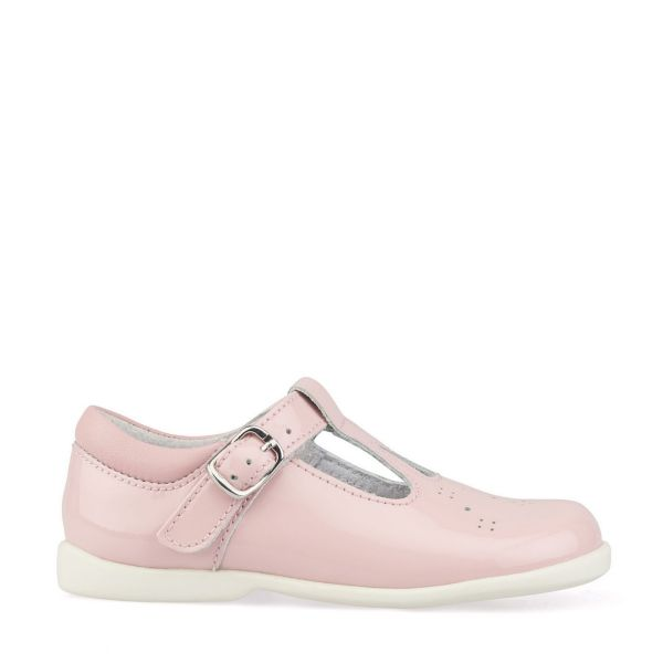 Start Rite Girls T-Bar Swirl Pink Patent Shoes