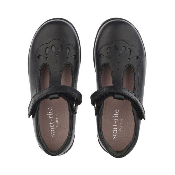 Start Rite Girls T-Bar School Shoe Poppy
