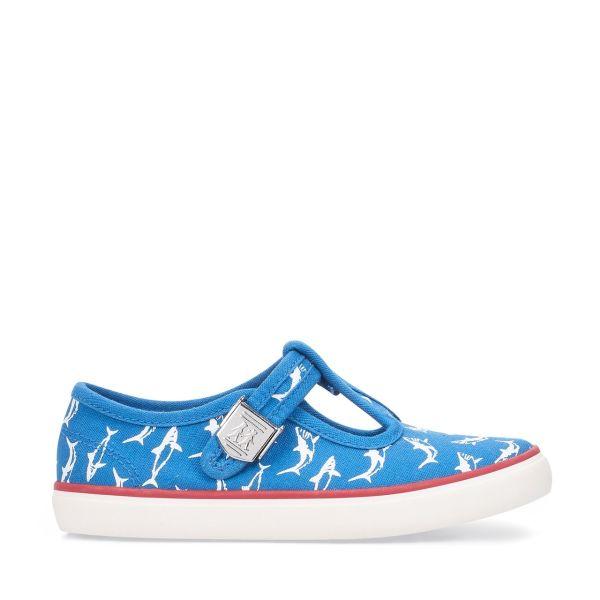 Start Rite Boys Shark Canvas Shoe Surf