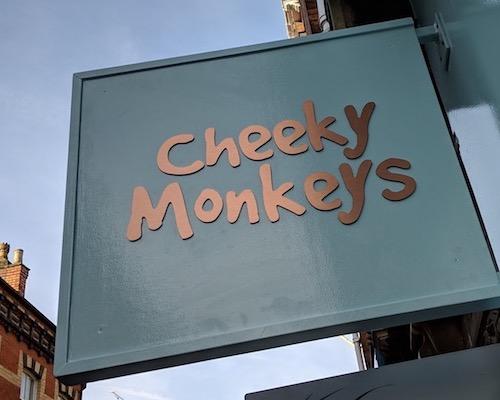 Cheeky Monkeys Lincoln children's shop sign